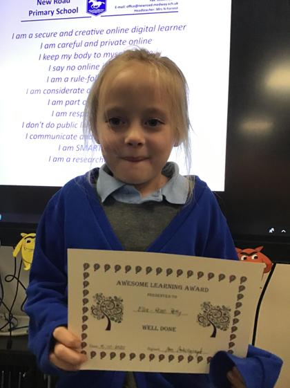 Ella! You are our role model! Your attitude towards learning is fantastic:)