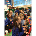 Watching the school Nativity and eating their chocolate cakes they made.