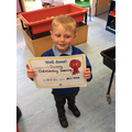 Well done Danny, outstanding learning this week