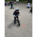 The children enjoyed using the balance bikes and were able to keep their balance