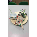 Our DT challenge was to create the top of our cars using junk modelling.