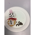 Snowman iced biscuits