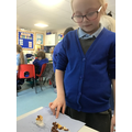 Making the edible layers of the soil and tasting:)