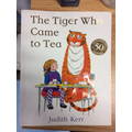 This week were reading The Tiger who came to Tea