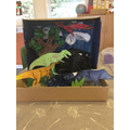 Aiman's Dinosaur diorama