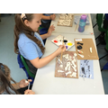 Salt dough painting