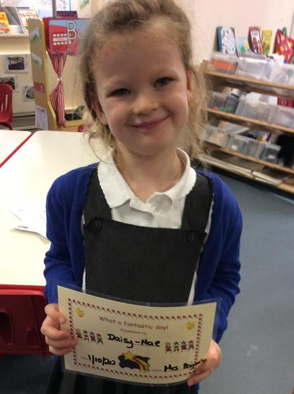 Daisy -Mae,  well done for  making all the right choices and having a fantastic day.