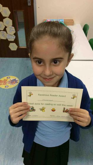 Harseraat for working hard to her improve her reading and comprehension.