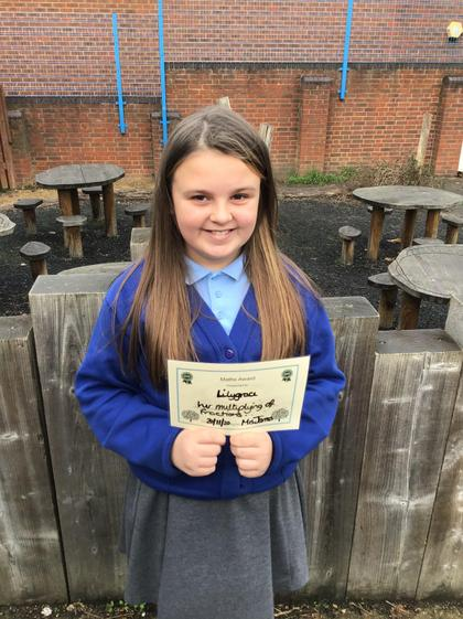 Lilygrace - Excellent work on Fractions this week.