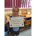 Well done Connie for outstanding learning this week