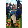We designed and made our own dinosaurs.