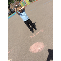 Connor chalked Mars