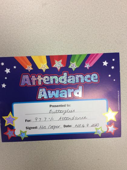 Great  attendance Butterflies, you have made your teachers so proud.