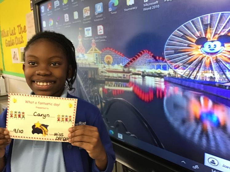 9/10 - Caryn always works hard and excelled in the Reading Plus lesson this week,