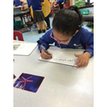 We are learning to write a sentence.