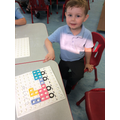The children were following instructions and copying patterns
