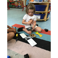 The children explore out every day objects and uses some real tools