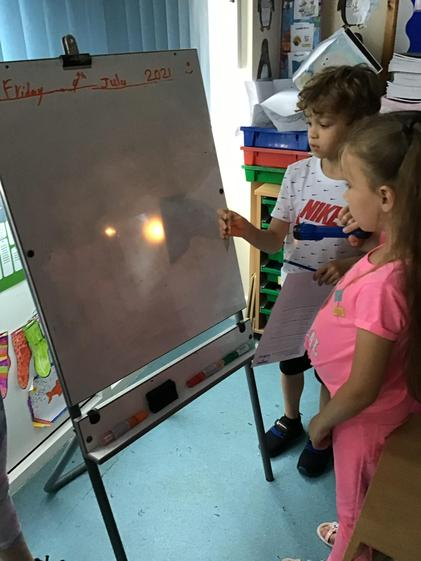 Investigating reflection and reflective surfaces.