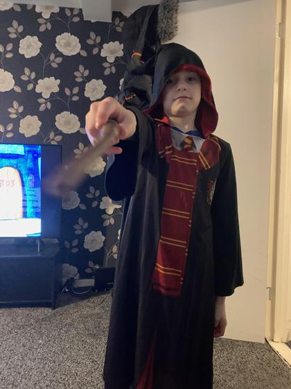 Caiden as Harry Potter