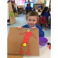 Harley used the tap a shapes to make his mummy.