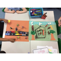 We made a 3D town and countryside to learn the similarities and differences between them.