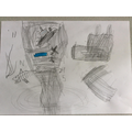 Harvey N - drawing of a tornado and its destruction