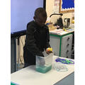 Joshua did a fantastic job in washing our toy.