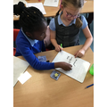 We were writing secret messages using mirrors!