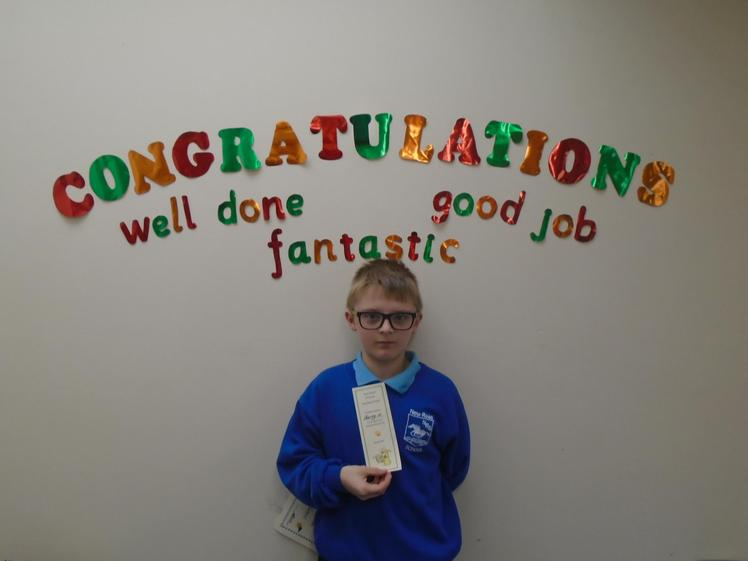 Well done to Harvey, great reading.