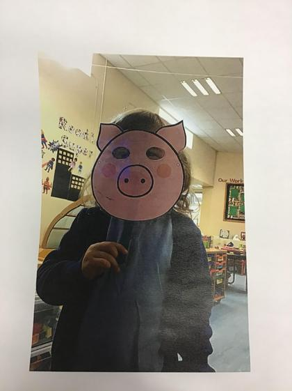 Well done Callie for a super recall of the 3 little pigs story.