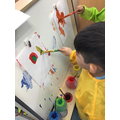 Eli painted a pirate picture