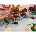 A diplodocus invaded the classroom!