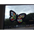 Evie's tissue paper butterfly