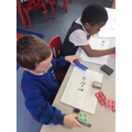 We used numicons to solve subtraction number sentences.