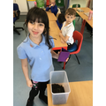 Making our compost.