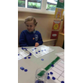We used counters to practise  our subitising skills.