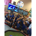 We enjoyed an interactive story about space.