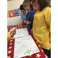 We enjoyed exploring amounts using the paint.