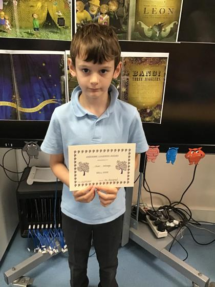 Great work Oliver! You are always focused on your work and doing your best!:)