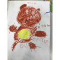 Week 4- drawing and labelling daddy bear