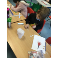 Making woolly mammoths from a milk container.