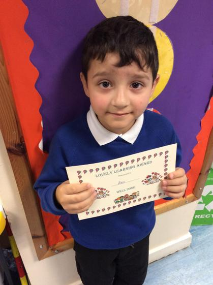 Alex for joining in with class activities and staying for lunch this week.