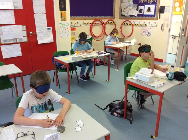 Blindfolded Drawing Activity