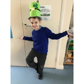 Joshua made a leprechaun hat