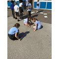 Drawing lines and converting them from meters into centimetres.