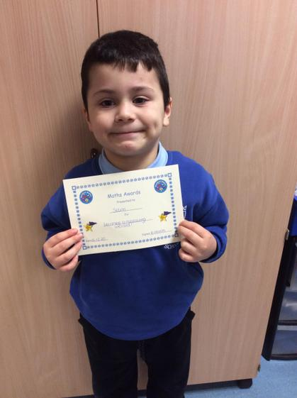 Maths award for becoming a wizard at measuring.