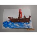 Harvey N painting Long Ship