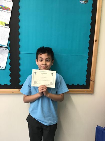 Maths Award for Samiul! :)