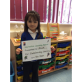Well done Aliah for outstanding learning this week