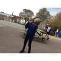 Completing the handball juggle challenge